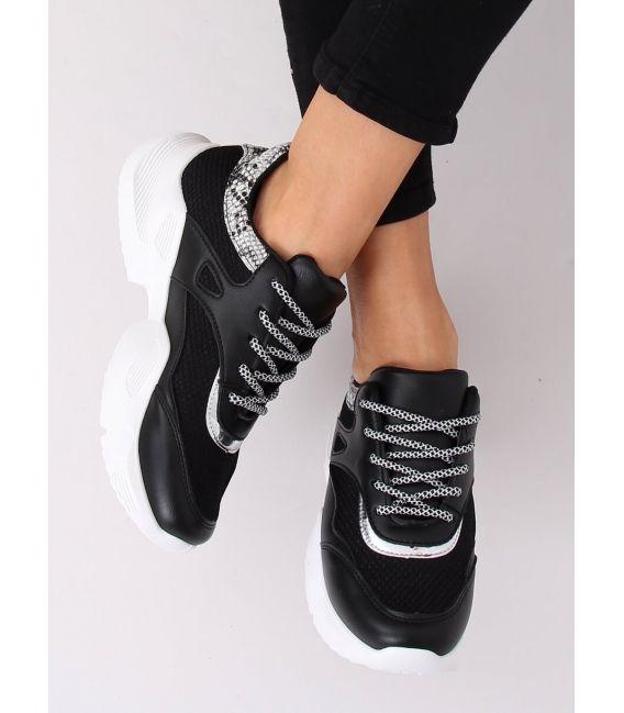 Buty sportowe damskie czarne BL192P BLACK