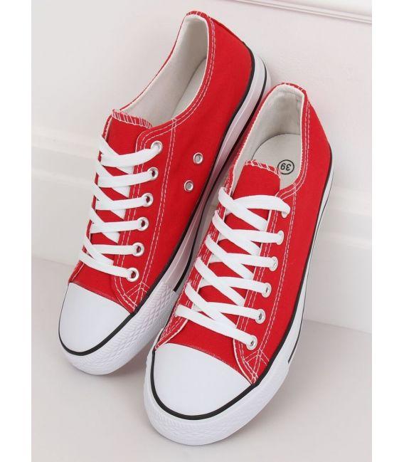 Trampki damskie klasyczne czerwone XL03 RED