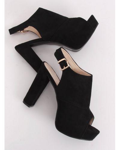 Sandałki na platformie czarne YL-0100 BLACK