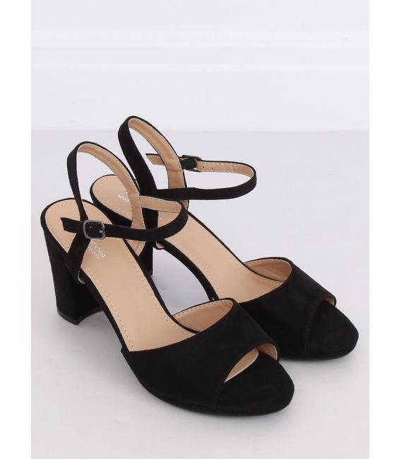 Sandałki na obcasie czarne 955-47 BLACK