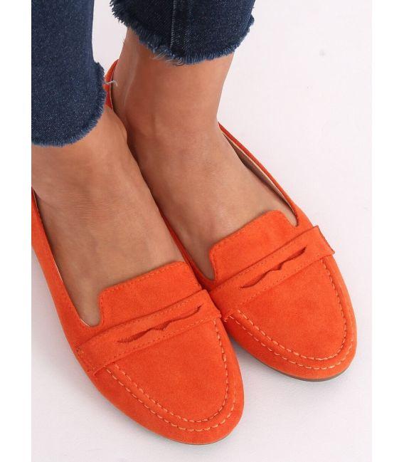 Mokasyny damskie pomarańczowe 3900 ORANGE
