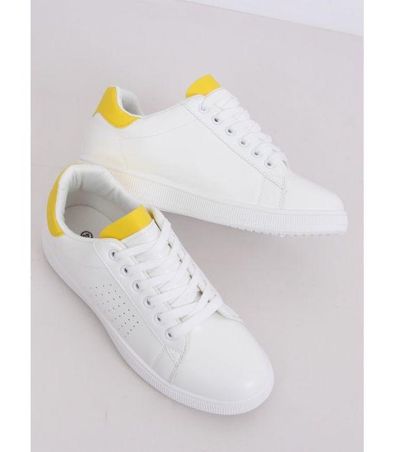 Trampki damskie biało-żółte LV101P YELLOW