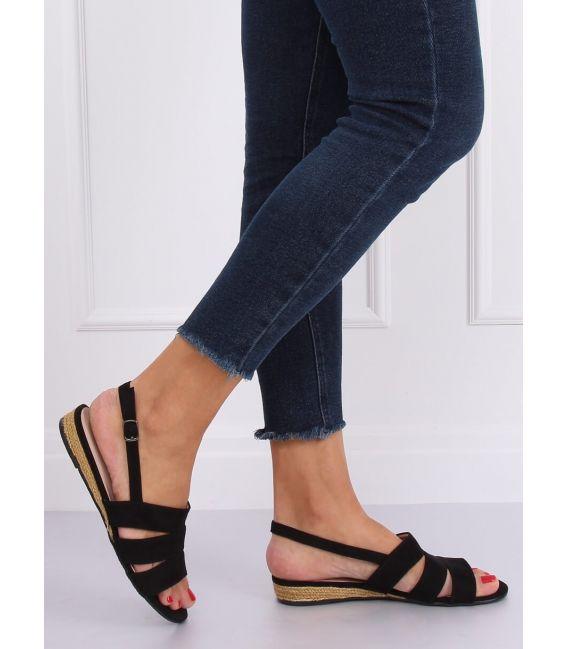 Sandałki espadryle czarne 9291 NEGRO