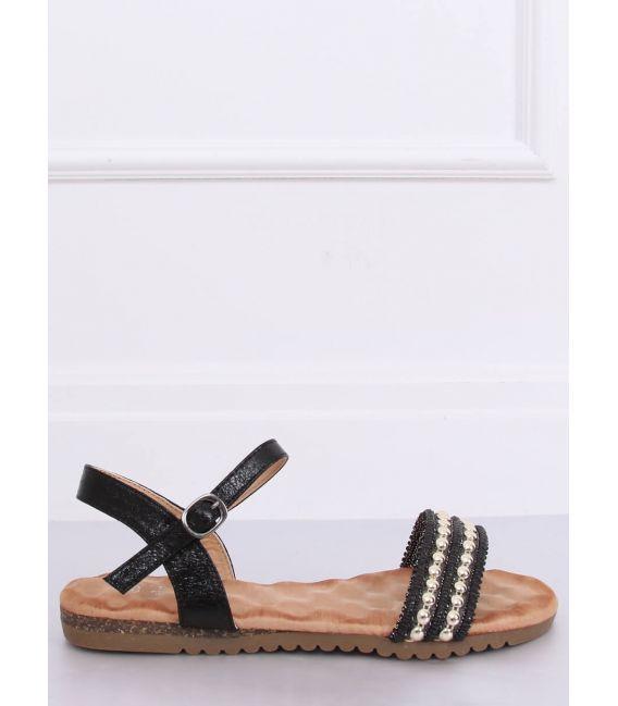 Sandałki damskie czarne HT-68 BLACK
