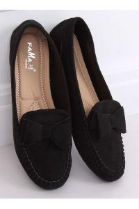 Mokasyny damskie czarne B2020-6 BLACK
