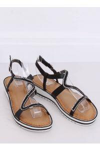 Sandałki asymetryczne czarne ZY178 BLACK