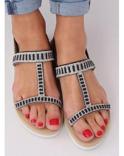 Sandałki damskie czarne HD-128 BLACK