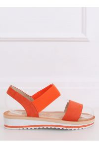 Sandałki damskie pomarańczowe E008 ORANGE