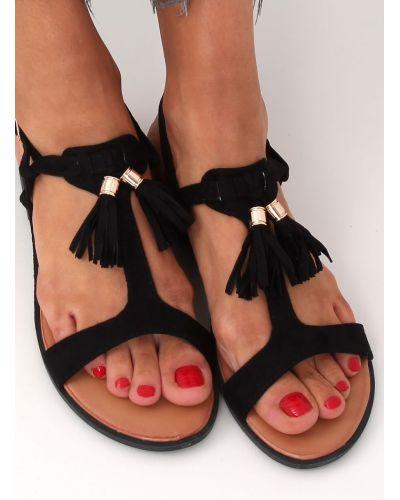 Sandałki damskie czarne 222-30 BLACK