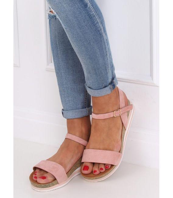 Sandałki damskie różowe RD054 PINK