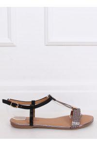 Sandałki damskie czarne WL014 BLACK