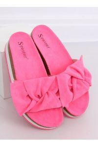 Klapki damskie różowe SS116P FUSHIA