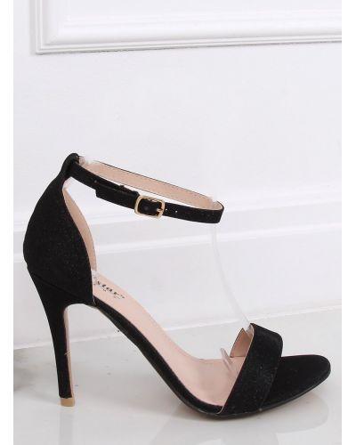 Sandałki na szpilce czarne GG-85P BLACK