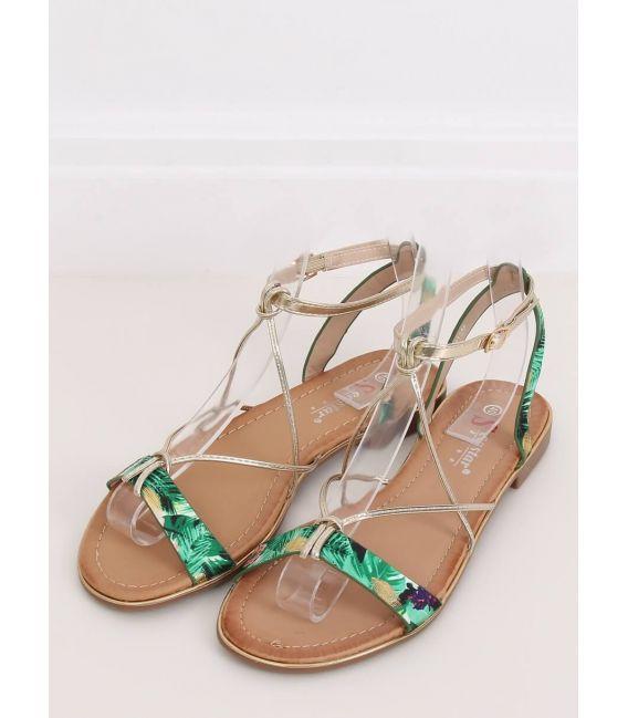 Sandałki damskie zielone JH125P GREEN