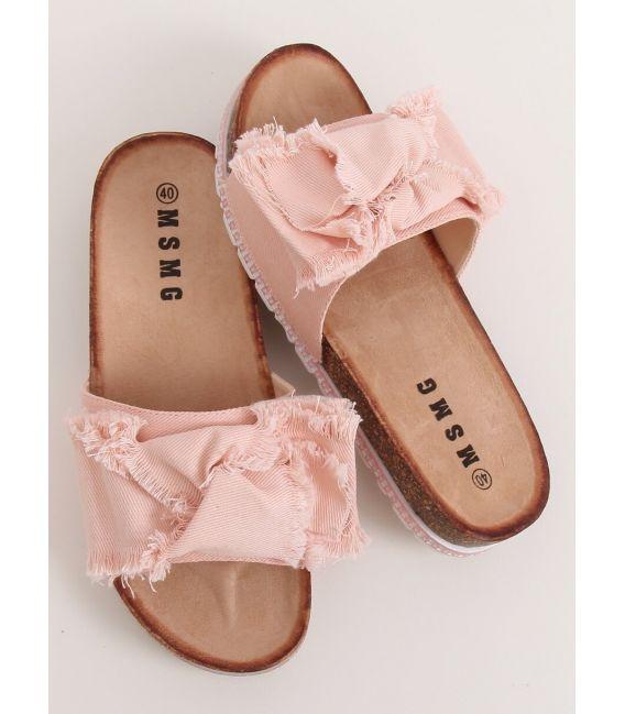 Klapki damskie różowe WS9023 PINK