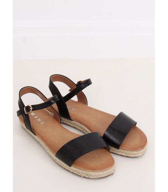 Sandałki espadryle czarne WH939 BLACK