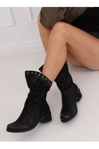 Botki damskie czarne ST06P BLACK