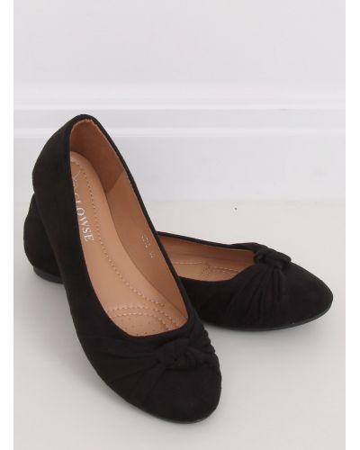 Baleriny damskie czarne 8F62 BLACK