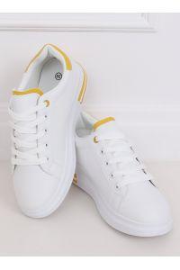 Trampki damskie białe LG20 WHITE/YELLOW