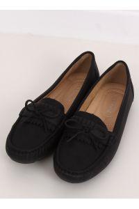 Mokasyny damskie czarne 9F182 BLACK