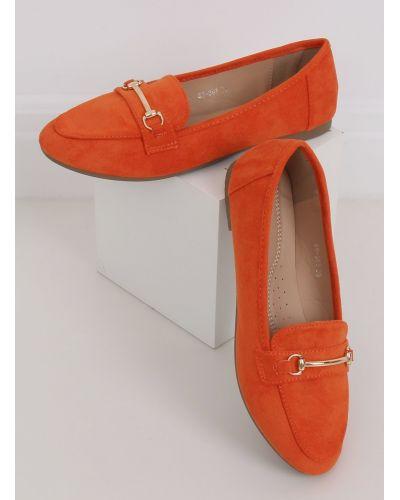 Mokasyny damskie pomarańczowe 88-385 ORANGE
