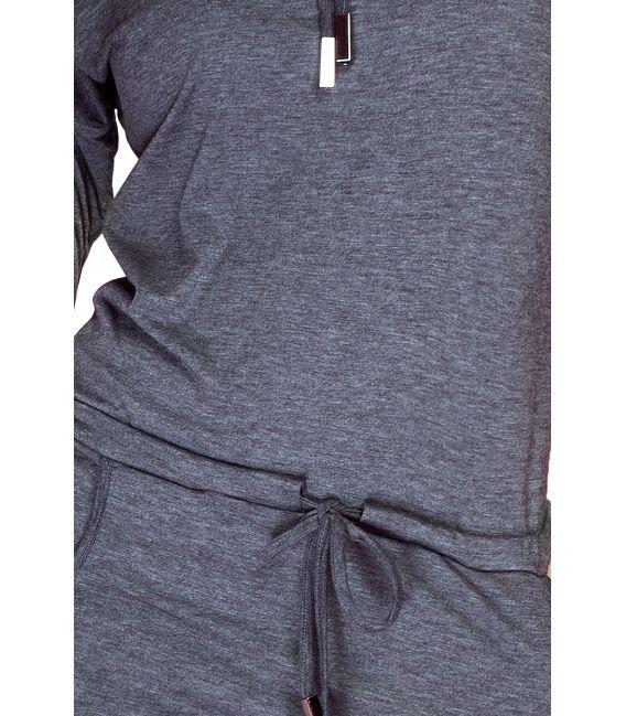 44-1 Sukienka sportowa z golfem - Szary Grafit