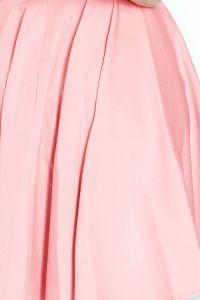 114-5 Sukienka z koła - dekolt w kształcie serca - PASTELOWY RÓŻ
