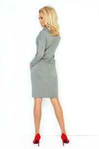 44-2 Sukienka sportowa z golfem - ŚREDNI SZARY - pętelka
