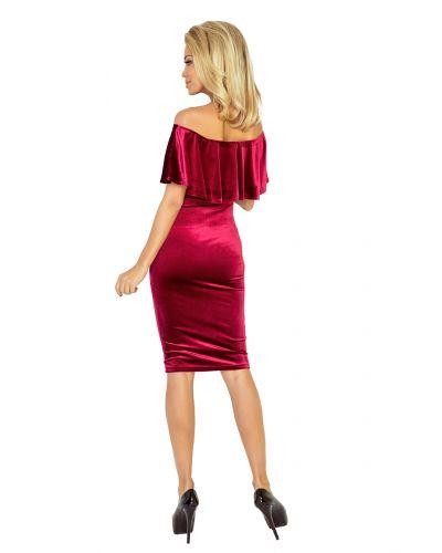 138-3 Sukienka hiszpanka - welur BURGUND