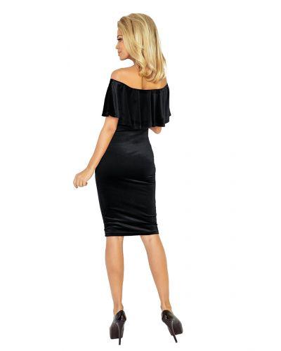 138-4 Sukienka hiszpanka - welur CZARNY