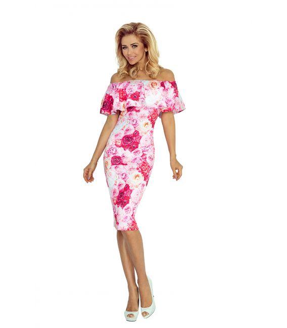 138-6 Sukienka hiszpanka - RÓŻOWE RÓŻE