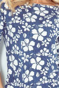 13-62 Sukienka sportowa - ciemnoniebieski jeans - KWIAT - MALWA