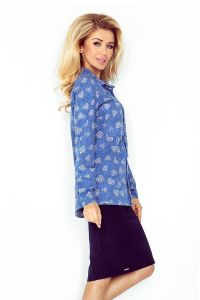 MM 018-2 Koszula z KIESZONKAMI - jeans + DUŻE SERCA