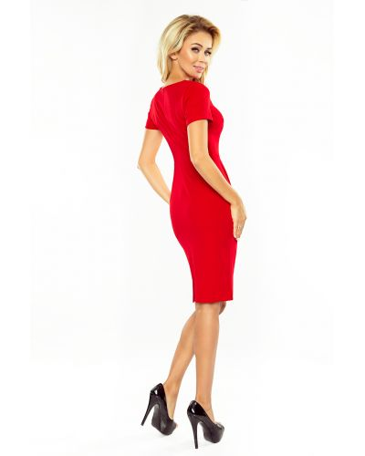 150-2 Sukienka DOROTA - elegancka - CZERWONA