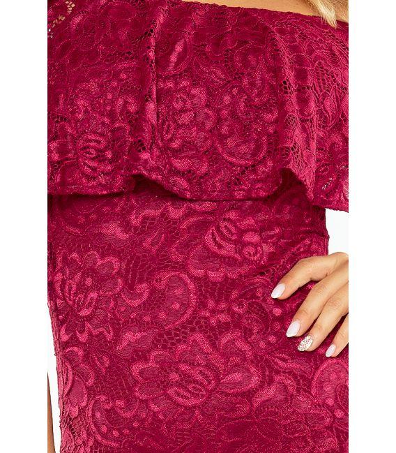 MM 013-3 Sukienka koronkowa - hiszpanka - BORDOWA