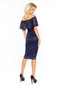MM 013-4 Sukienka koronkowa - hiszpanka - GRANAT