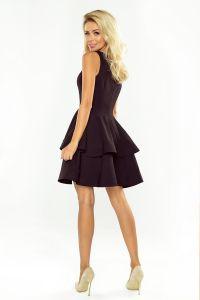 169-3 Sukienka CRISTINA rozkloszowana - CZARNA