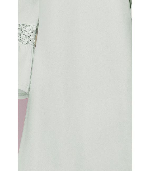 190-5 MARGARET sukienka z koronką na rękawkach - BŁĘKIT