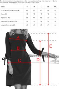195-9 ALICE Sukienka z kokardkami - BŁĘKIT + KWIATY