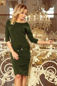 13-103 Sukienka sportowa - BAWEŁNA - KHAKI