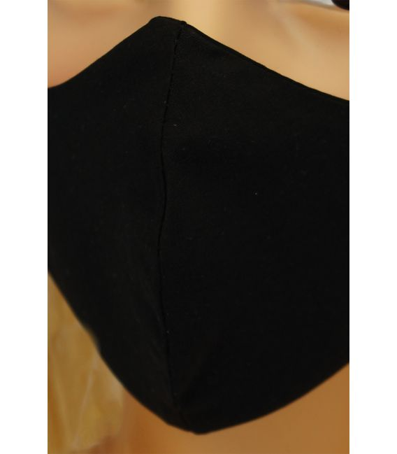 CV014 Maseczki wielorazowe - Czarne - bawełna 100% - 2 szt - rozm. L