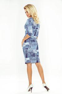 44-17 Sukienka sportowa z golfem i wiązaniem - JEANS ŁATY