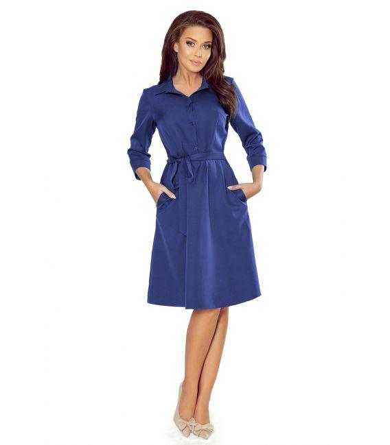 286-2 SANDY Koszulowa rozkloszowana sukienka - CHABROWA