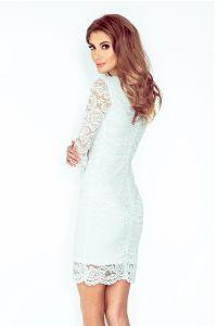 145-3 Sukienka z KORONKI - ECRU