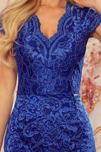316-4 Koronkowa sukienka z krótkim rękawkiem i dekoltem - CHABROWA