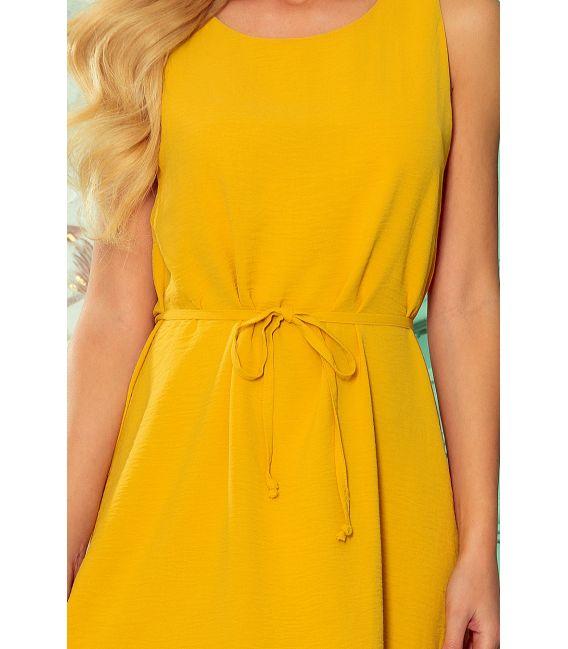 296-5 VICTORIA Trapezowa sukienka - MIODOWA