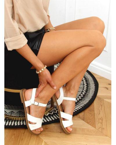 Sandałki damskie białe K-20 WHITE