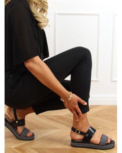 Sandałki damskie czarne YQ16 BLACK