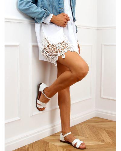 Sandałki damskie białe 7823 WHITE