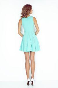 MM 014-4 Sukienka z koła - dekolt serduszko - MIĘTOWA